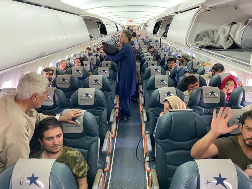 Ark Salus Rescue Mission in Afghanistan Onboarded Plane