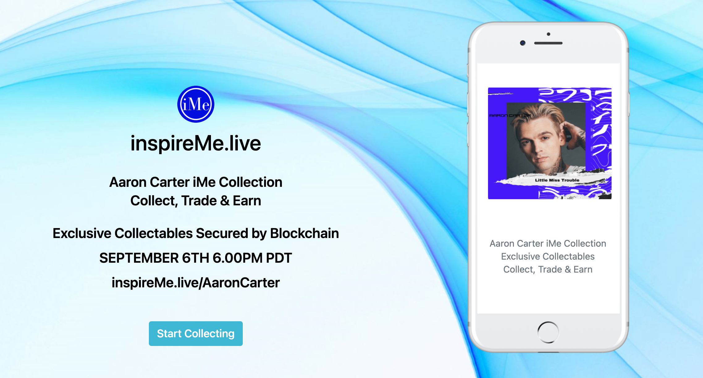 Aaron Carter iMe Collection Mobelization